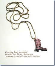 2013-06-19 - Cowboy boot pendant